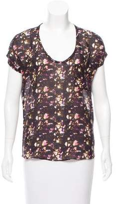 Richard Chai Printed Short Sleeve Top