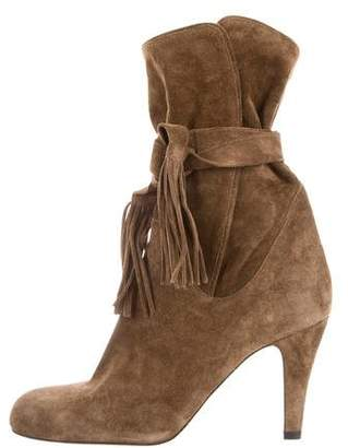 Chloé Suede Fringe Ankle Booties