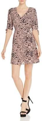 Aqua V-Neck Leopard-Print Dress - 100% Exclusive