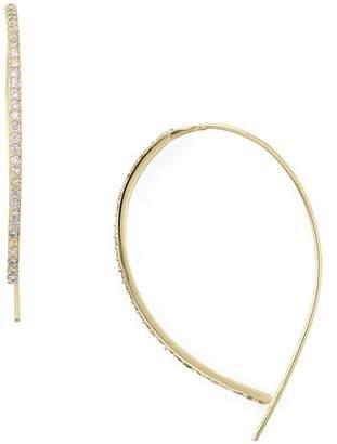 Aqua Sterling Silver Threader Hoop Earrings - 100% Exclusive