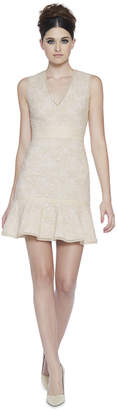 Alice + Olivia Onella V-Neck Dress With Trim