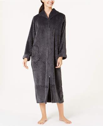 Miss Elaine Textured Fleece Zip Robe
