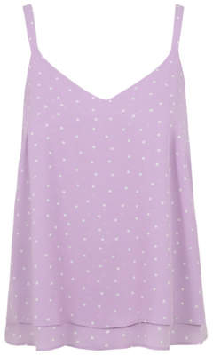 George Lilac Spot Print Double Layer Camisole