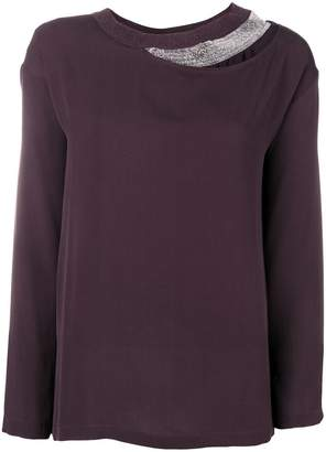 Fabiana Filippi layered long sleeved blouse