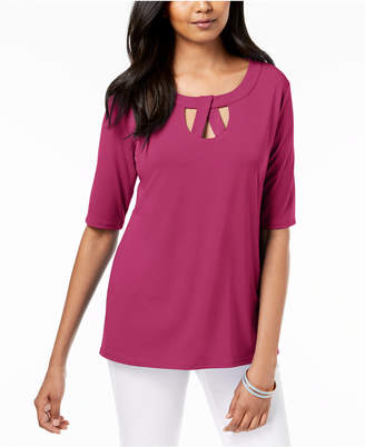 JM Collection Twist-Neck Keyhole Top, Created for Macy's