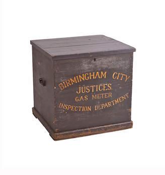 Rejuvenation Birmingham City Wood Cube Chest w/ Original Paint