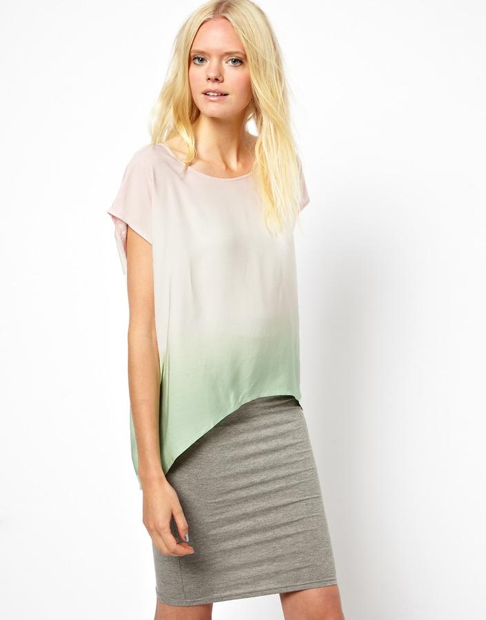 Just Female Dip Dye T-Shirt
