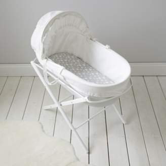 The White Company Classic Moses Basket, Cool Grey, One Size