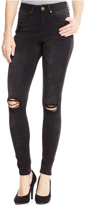 Suede Juniors' High-Rise Ripped Skinny Jeans $59 thestylecure.com