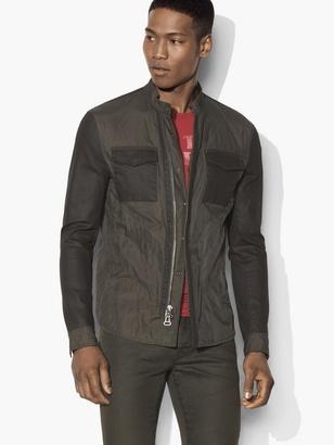 Nylon Combo Shirt Jacket $348 thestylecure.com