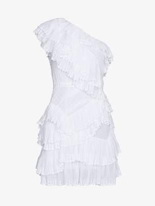 Isabel Marant Zeller Asymmetric Ruffle Dress