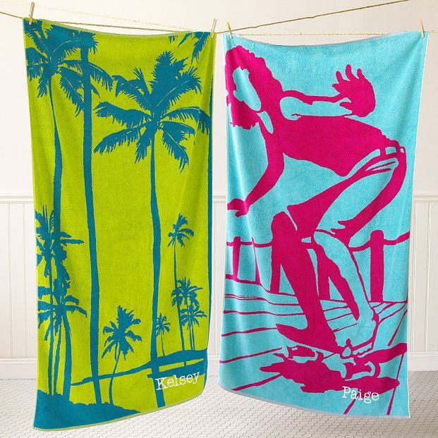 Silhouette Beach Towel