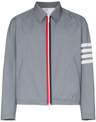Thom Browne Striped zipped bomber jacket