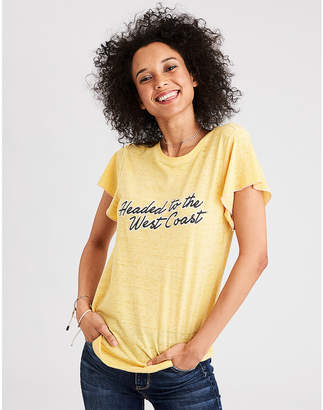 American Eagle AE Burnout Desert Graphic Tee