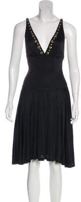 Blumarine Sleeveless Silk Knee-Length Dress w/ Tags