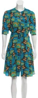 Louis Vuitton Floral Zip Dress