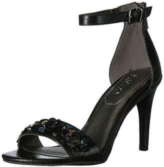Kenneth Cole Reaction Women's Smash Dance Two Piece Open Toe Stiletto Heel Flower Ornamentation Dress Sandal