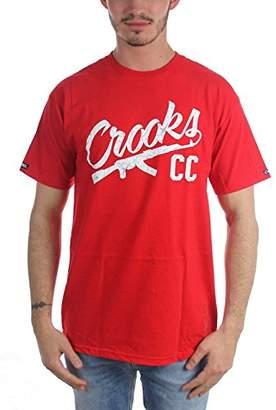 Crooks & Castles Men's Chain a-k T-Shirt