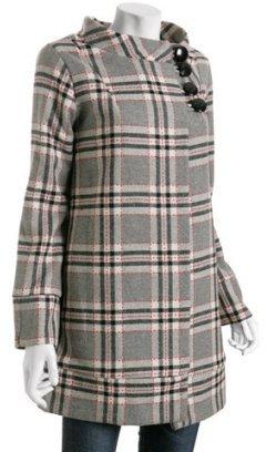 Eva Franco grey plaid wool-blend 'Twiggy' coat