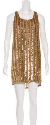 Haute Hippie Sequin Embellished Silk Mini Dress