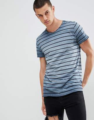 Solid T-Shirt in Gradient Stripe