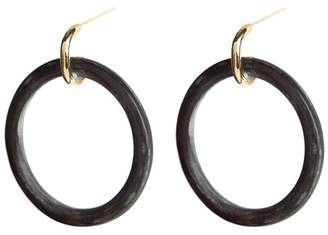 Soko Horn Statement Hoop Earrings