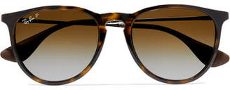 Ray-Ban Round-frame Tortoiseshell Acetate And Gunmetal-tone Sunglasses