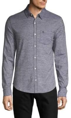Original Penguin Jaspe Knit Slim-Fit Button-Down Shirt