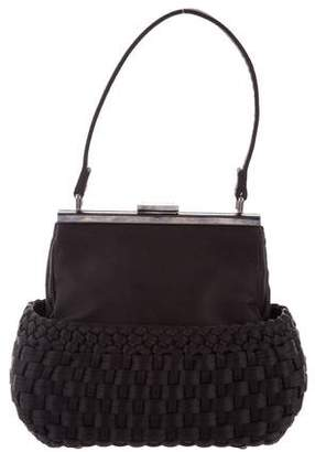 Paule Ka Woven Satin Handle Bag