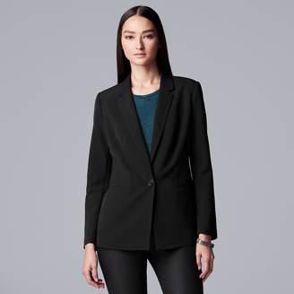 Vera Wang Women's Simply Vera Notch Collar Blazer