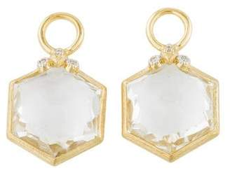 Jude Frances 18K Topaz & Diamond Earring Charms