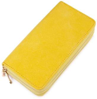Riah Fashion Yellow Faux Suede Wallet