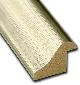 Amanti Art Warm Silver Swoop 30x22 Framed White Cork Board