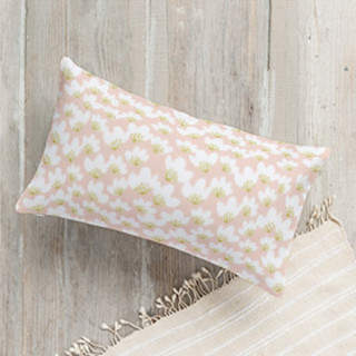 Spring Beauties Lumbar Pillow