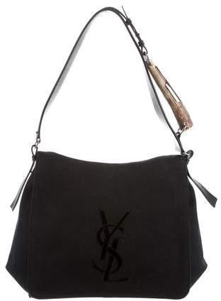 Yves Saint Laurent Cassandre Monogram Canvas Messenger Bag
