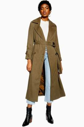 Topshop Belted Trench Coat