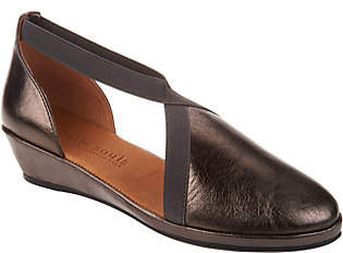 Kenneth Cole Gentle Souls by Gentle Souls Leather Closed Toe Wedges -Natalia