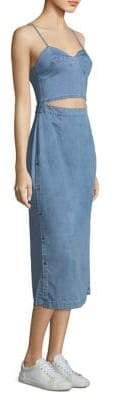 3x1 Peek-A-Boo Denim Midi Dress