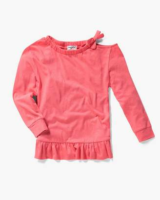 Splendid Little Girl Cold Shoulder Top Set