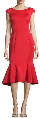 Jovani Midi Drop-Waist Cocktail Dress, Red $560 thestylecure.com