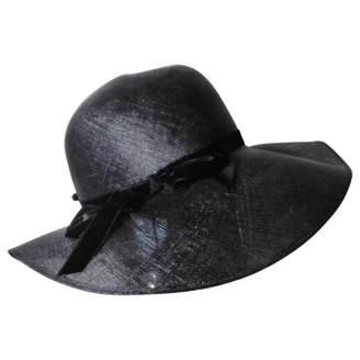 Vintage Paulette Black Wicker Hats