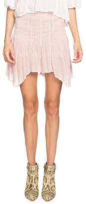 Etoile Isabel Marant Akala Embroidered Asymmetrical Short Skirt