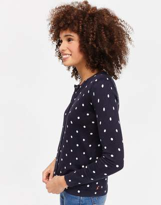 Joules Clothing French Navy Elsa Spot Skyeprint Knitted Cardigan