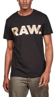 G Star Raw Men's Desert Camouflage Logo T-Shirt