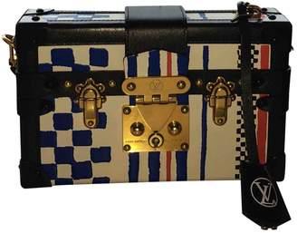 Louis Vuitton Petit Malle Leather Clutch Bag