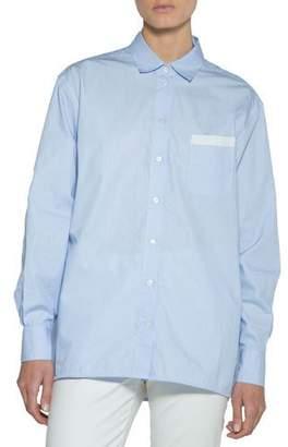 Eleventy Striped Cotton Classic Blouse