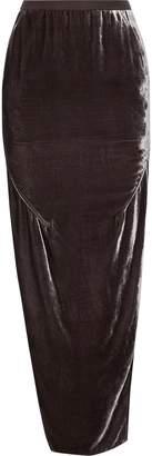 Rick Owens Dirt Split-side Velvet Maxi Skirt