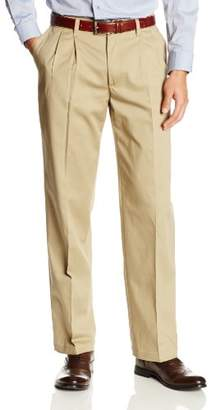 Lee Men's Comfort Waist Custom Relaxed-Fit Pleated Pant