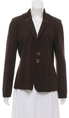 St. John Wool Two-Button Sweater