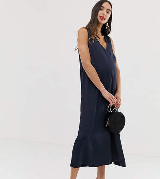 21065cda3a46d Blume Maternity relaxed satin jumpsuit in navy